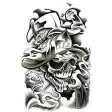 temporary skull fireman skull artwear