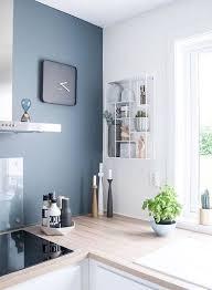 interior kitchen colors kitchen blue feature wall kitchen design ideas