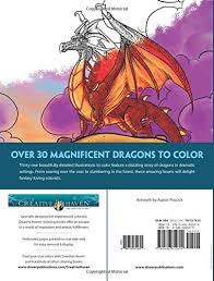 amazon creative haven fantastical dragons coloring book