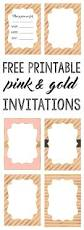 pink and gold invitations free printable gold invitations pink