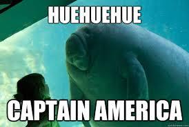 Huehuehue Meme - huehuehue captain america overlord manatee quickmeme
