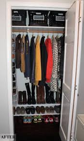 Entryway Coat Rack With Shoe Storage by Top 25 Best Coat Closet Organization Ideas On Pinterest Do I