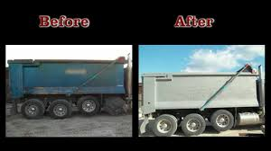 blast it clean cleaning paint and rust off dump truck bed youtube