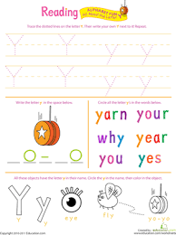 get ready for reading all about the letter y worksheet