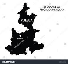 Michoacan Map Estado De Puebla Mexico Vector Map Stock Vector 496654075