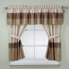 Chocolate Brown Valances For Windows Buy Shower Window Curtains From Bed Bath U0026 Beyond