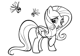 fluttershy coloring pages my little pony free coloring pages