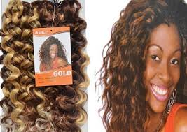 synthetic hair extensions black africa hair clothing noble gold synthetic weave curl