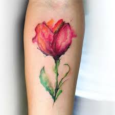 20 yellow tulip flowers tattoos ideas with meaning