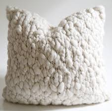 White Fur Cushions Clouds Chunky Wool Throw Pillow Chunky Wool Throw Pillows And