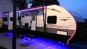 travel trailer led lights updated rv led light strips youtube