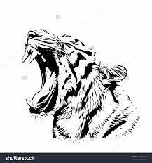 tiger side face sketch bengal tiger sketch silhouette mask biggest