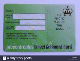 discount travel images Jobcentre plus travel discount card stock photo 106817342 alamy jpg