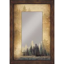garden ridge wall mirrors rustic mirrors with wildlife designs