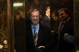 nigel farage arrives at trump tower in new york for talks with us
