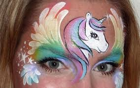 pegasus face painting tutorial youtube
