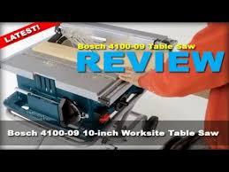 Bosch Table Saw Review by Bosch 4100 09 Table Saw 2017 Review Youtube
