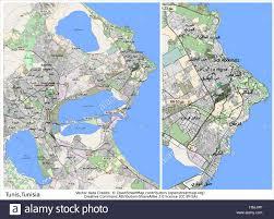 tunisia map tunis tunisia city map stock vector illustration vector