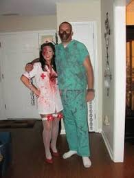 our plastic surgery costume i was the patient and my husband was
