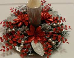 White Christmas Centerpieces - christmas centerpiece red u0026 white christmas