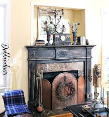 absolute black granite fireplace surround mantel shelf painting