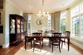 bathroom interesting dining room luxury home bay window stock