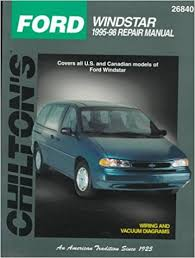 online car repair manuals free 1995 ford windstar engine control ford windstar 1995 98 chilton s total car care repair manual