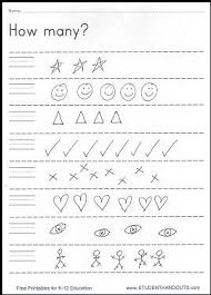 how many free pre k and kindergarten printable student handouts