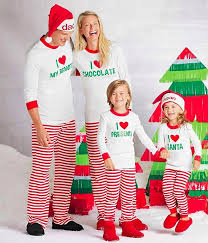 family matching personalized i santa pajamas