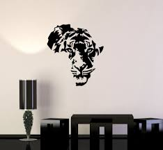 Kid Room Wall Decals by Vinyl Decal Tiger Animal Africa Map Kids Room Wall Stickers Decor