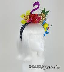flower headdress tropical fruit flamingo flower headdress tempête tropicale