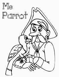 minnie parrot coloring cartoon pages