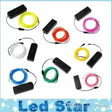 online cheap 3m flexible neon light glow el wire tube