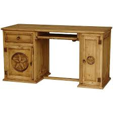 rustic pine writing desk rustic pine collection star computer desk esc518