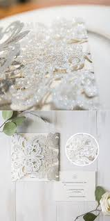 Snowflake Wedding Invitations Romantic Snowflake Wedding Invitations Ideas For Winter Brides