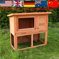 Sale Rabbit Hutches Outdoor 2 Tier Light Wood Rabbit Hutches For Pet House Ideas