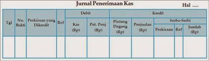 format buku jurnal penerimaan kas akunisti