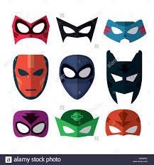 icon set of superhero mask cartoon design vector graphic stock