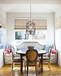 dining room sofa sophisticated breakfast nook upholstered nailhead banquette and