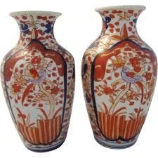 Antique Hand Painted Vases Pair Of Antique Japanese Imari Hand Painted Vases From Applegate