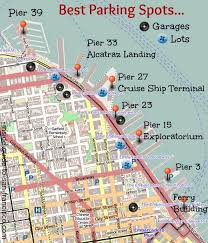 san francisco map sightseeing sf embarcadero parking best places to park