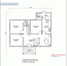 single house floor plans stunning kerala style single floor house plan 1155 sq ft kerala