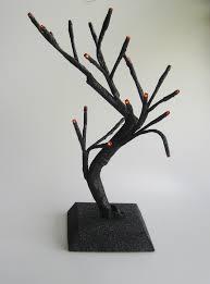 15 led black glitter lighted display tree at hooked on