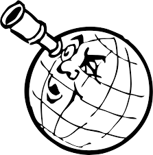 clipart planet with spyglass