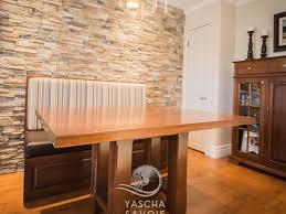 cuisine merisier table de cuisine en merisier avec banquette meubles sur mesure