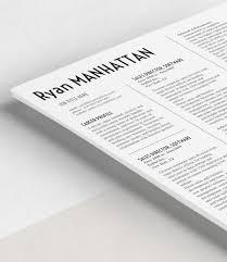 manhattan resume template rockstarcv com