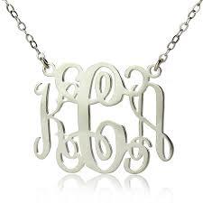 monogrammed necklace best personalized monogram necklace photos 2017 blue maize