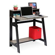 White High Gloss Computer Desk by Furinno Simplistic A Frame Computer Desk Multiple Colors