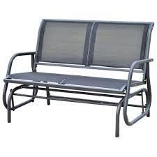 outsunny patio double person glider bench rocker porch love seat