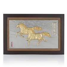 horses clouds plaque plaques ornamental royal selangor